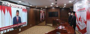 Presiden Joko Widodo memimpin Upacara Peringatan Hari Lahirnya Pancasila